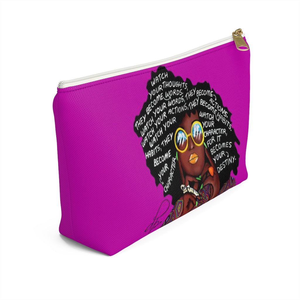 Watch Your Thoughts Purple Accessory Pouches