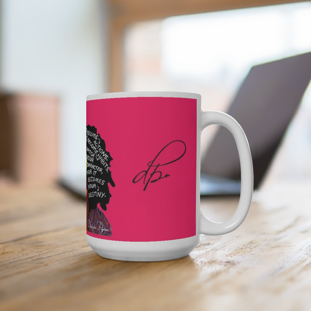 Watch Your Thoughts Pink Ceramic Mug