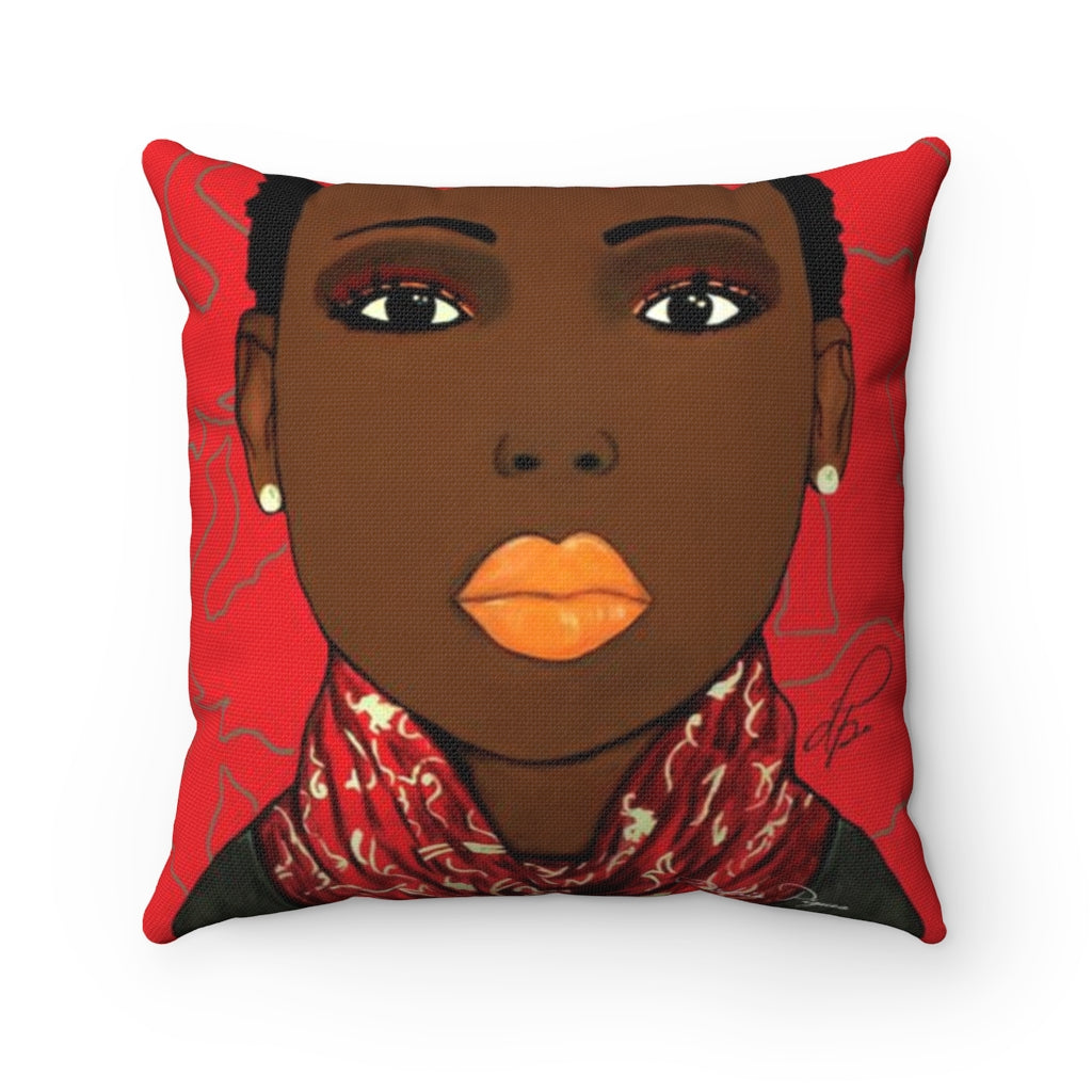 Crimson Beauty Spun Polyester Square Pillow