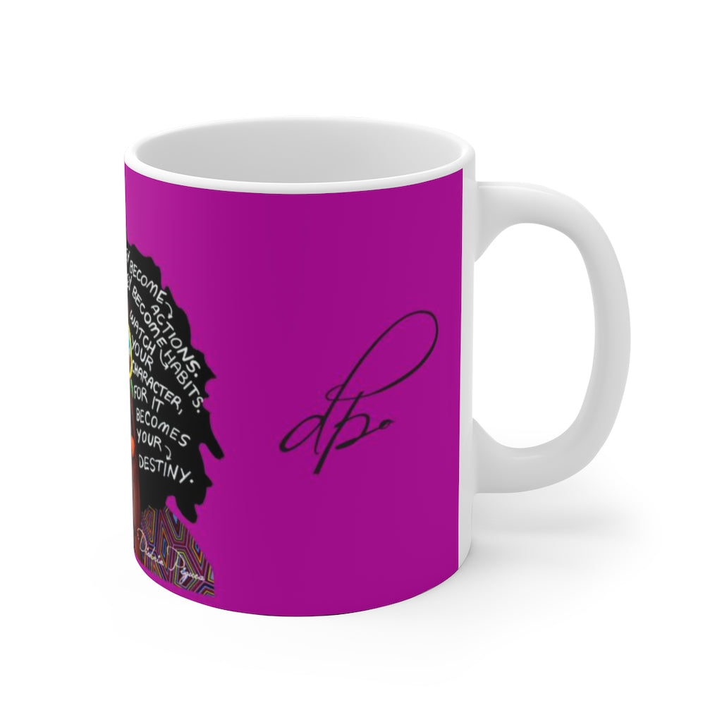 Watch Your Thoughts Purple Ceramic Mug