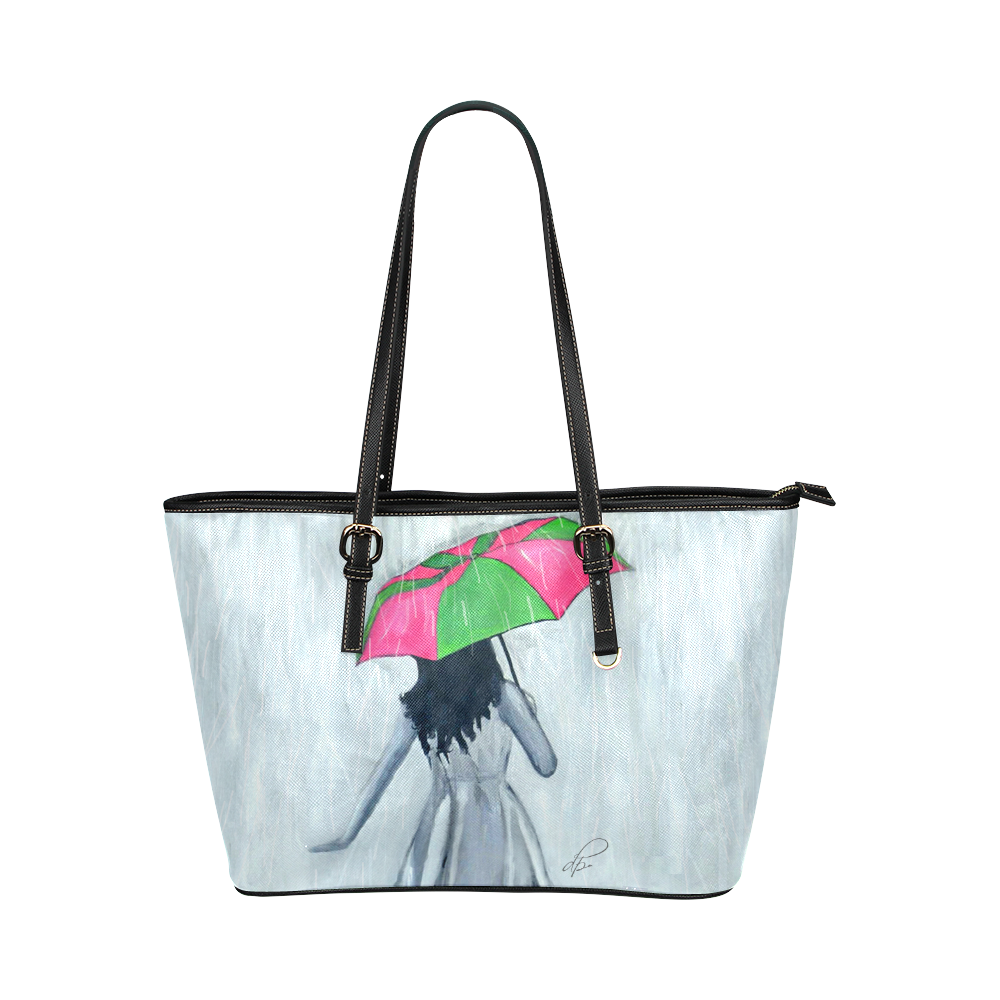 Elegant Showers Leather Handbag
