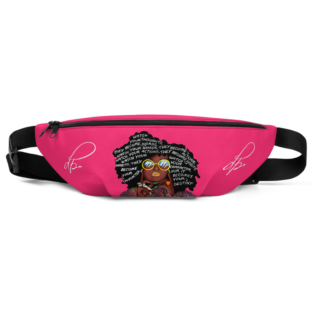 Watch Your Thoughts Pink Fanny Pack