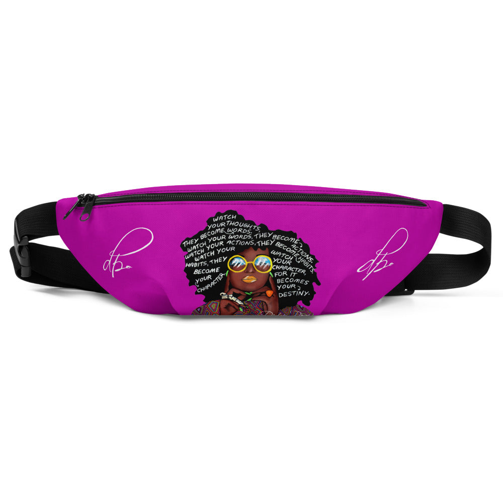 Watch Your Thoughts Purple Fanny Pack
