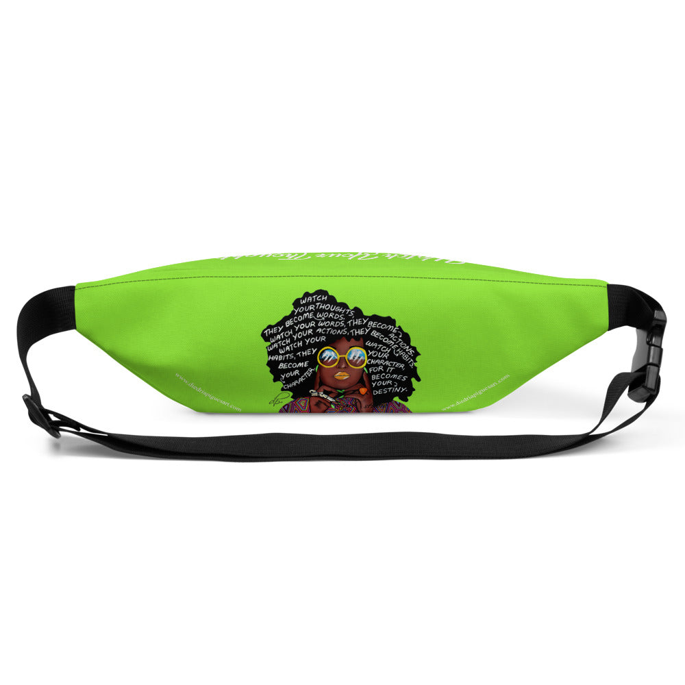 Watch Your Thoughts Lime Green Fanny Pack
