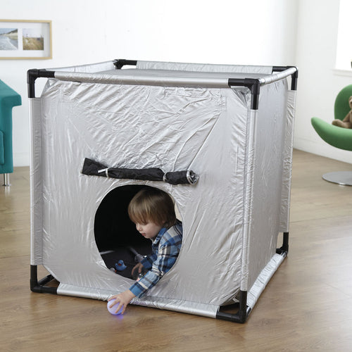 Dark Den Tent, sensory integration, for disabled children.
