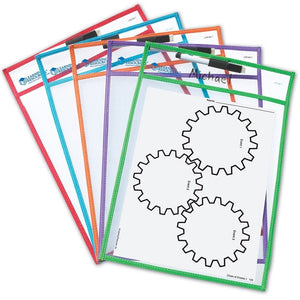5 Pack Of Wipe Clean Pockets, Care and Safety, for Disabled Children.