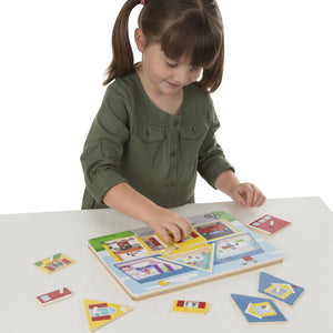 Around The House Sound Puzzle, sensory integration, for disabled children.