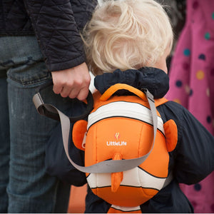 Backpack Safety Rein, out and about, for disabled children.