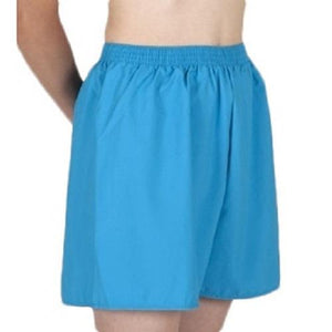 Blue HiLINE Boys Incontinence Swim Boxers, Swimwear, for disabled children.