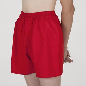 Red Boys Swim Shorts, Swimwear, for disabled children.