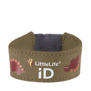 Dinosaur Child ID Bracelet, out and about, for disabled children.