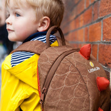 Load image into Gallery viewer, Dinosaur Children's Backpack, out and about, for disabled children.