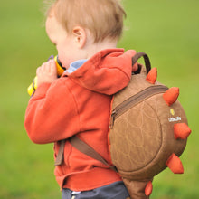 Load image into Gallery viewer, Dinosaur Toddler Backpack with Rein, out and about, for disabled children.