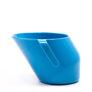 Blue Doidy Cup, drinking, for disabled children.