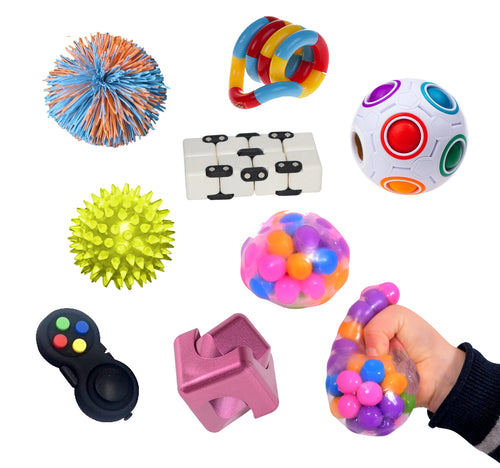 Fidget Kit 2, sensory integration, for disabled children.