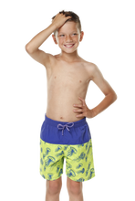 Load image into Gallery viewer, Kes-Vir Boys Incontinence Board Shorts - Jellyfish/Blue, Swimwear, for disabled children.