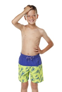 Kes-Vir Boys Incontinence Board Shorts - Jellyfish/Blue, Swimwear, for disabled children.