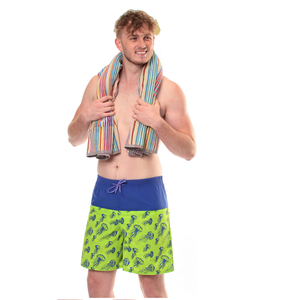 Kes-Vir Mens Incontinence Board Shorts - Jellyfish/Blue, Swimwear, for disabled children.