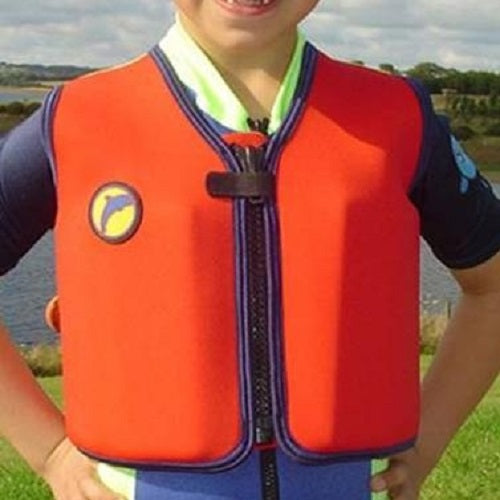 Konfidence Original Buoyancy Swim Vest - Red/Yellow, Swimwear, for disabled children.