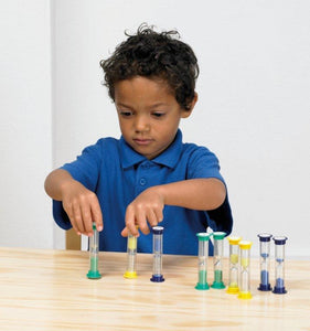 Mini Sand Timer Set, Learning Resource, for disabled children.