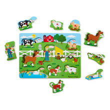 Old MacDonald's Farm Sound Puzzle, motor and cognitive skills, for disabled children.