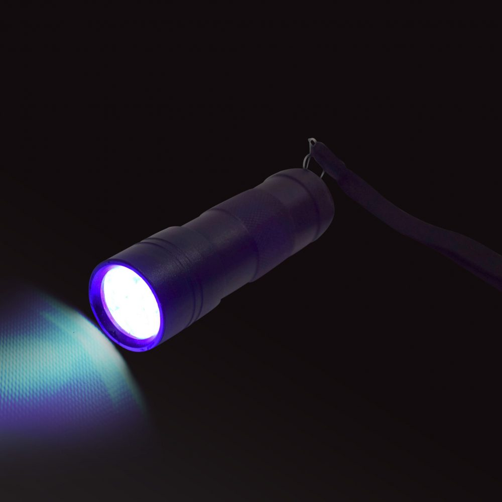 UV LED Torch, sensory integration, for disabled children.