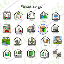 Load image into Gallery viewer, Out & About Sticker pack for Tomtag collection, Learning Resource, for disabled children.