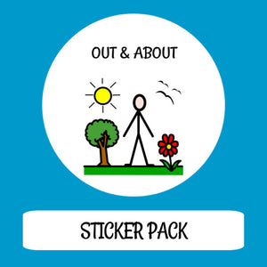 Out & About Sticker pack for Tomtag collection, Learning Resource, for disabled children.