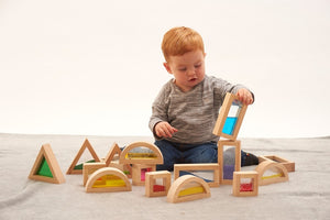Sensory Block Set, sensory integration, for disabled children.