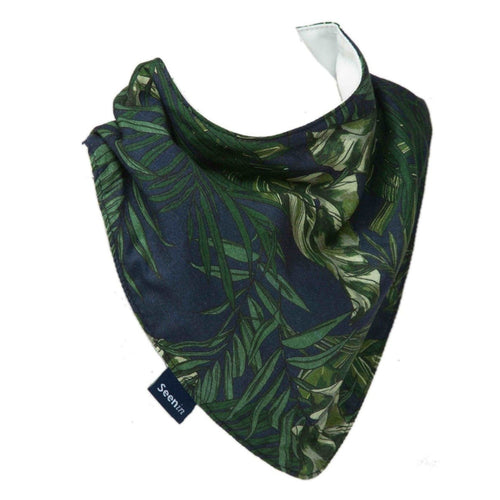 Draped Hessie Bandana - Palm Leaves, Protective Bibs, For Disabled Children.