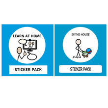 Load image into Gallery viewer, TomTag Dual Sticker pack Learn at Home & In The House Sticker pack for Tomtag collection, Learning Resource, for disabled children.
