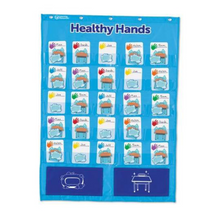 Load image into Gallery viewer, Healthy Hands Pocket Chart