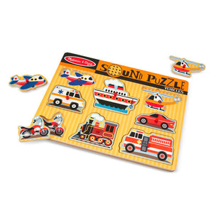 Children toy, Vehicles Sound Puzzle, sensory integration, for children with disabilities.