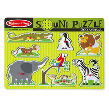 Load image into Gallery viewer, Zoo Sound Puzzles, motor and cognitive skills, for disabled children.
