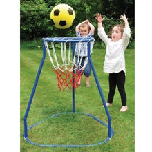 Load image into Gallery viewer, Boy and girl playing with Basketball Stand, motor and cognitive skills, for children with disabilities.
