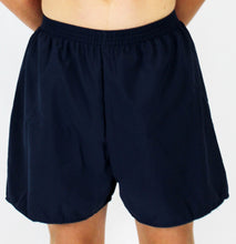 Load image into Gallery viewer, Navy HiLINE Boys Incontinence Swim Boxers, Swimwear, for disabled children.