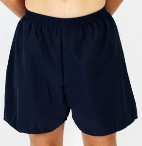 Navy HiLINE Boys Incontinence Swim Boxers, Swimwear, for disabled children.