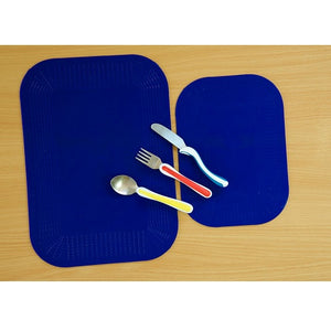 Blue Dycem Mealtime Placemat, eating, for disabled children.