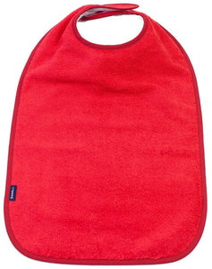 Red Feeding Apron, Protective bib, for disabled children.