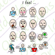 Load image into Gallery viewer, Feelings and Emotions Sticker pack for Tomtag collection, Learning Resource, for disabled children.