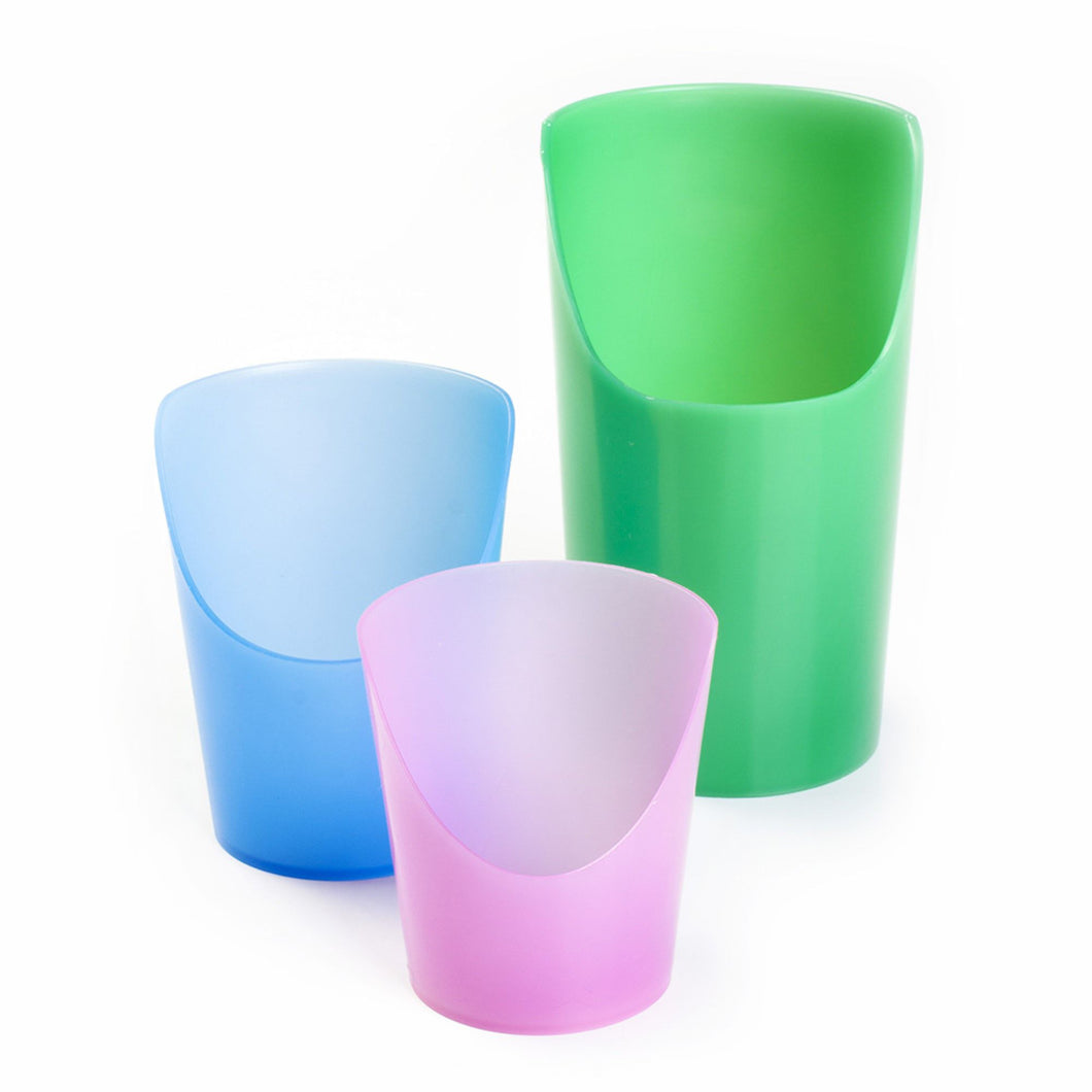 Flexi Cut Cups, drinking, for disabled children.