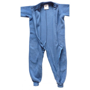 Opened up All-In-One pyjama, Blue Fleece, Protective clothing, for disabled children.