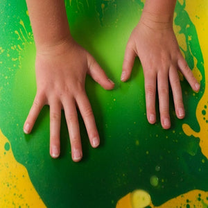 Hands on green Liquid Floor Tile - Large, sensory integration, for children with disabilities.