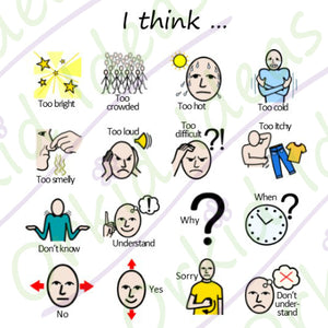 Feelings and Emotions Sticker pack for Tomtag collection, Learning Resource, for disabled children.