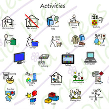 Load image into Gallery viewer, In The House Sticker pack for Tomtag collection, Learning Resource, for disabled children.