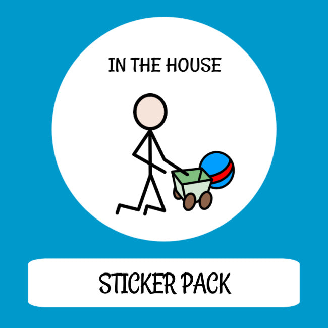 In The House Sticker pack for Tomtag collection, Learning Resource, for disabled children.