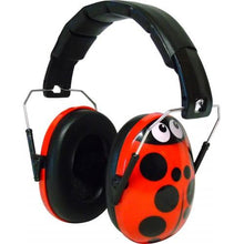 Load image into Gallery viewer, Ladybird Caps for Children Ear Defenders, care & safety, for disabled children.