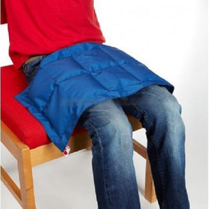 Blue Stars Weighted Lap Pad, sensory integration, for disabled children.