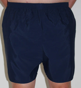 Navy Mens Boxer Style Swim Shorts, Swimwear, for disabled children.