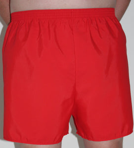 Red HiLINE Mens Incontinence Swim Shorts, Swimwear, for disabled children.